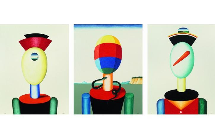 Виктор Пивоваров «Триптих со змеёй», 2000