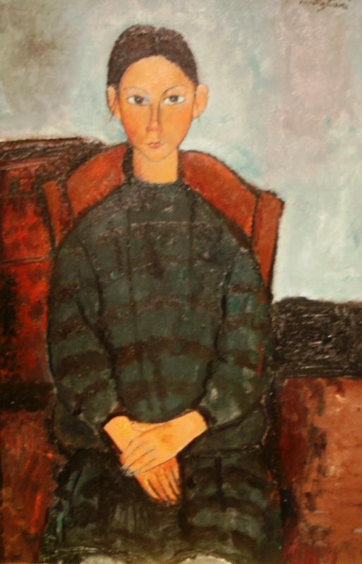 Амедео Модильяни «Портрет девушки в чёрном платье» 1918
