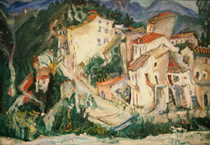 Хаим Сутин «Пейзаж в Кань» 1924-1925