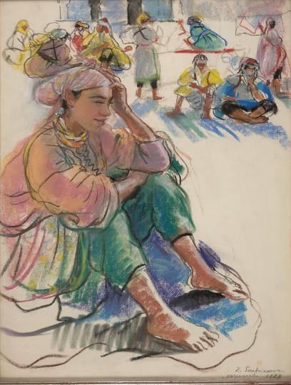Сидящая марокканка. 1928