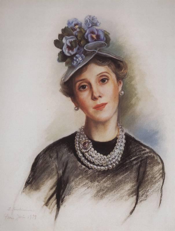 Зинаида Серебрякова. Портрет графини Зубовой. 1939