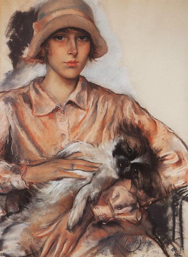 Портрет дамы в розовом. Ида Велан. 1926