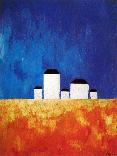 Пейзаж с пятью домами. 1928-1929