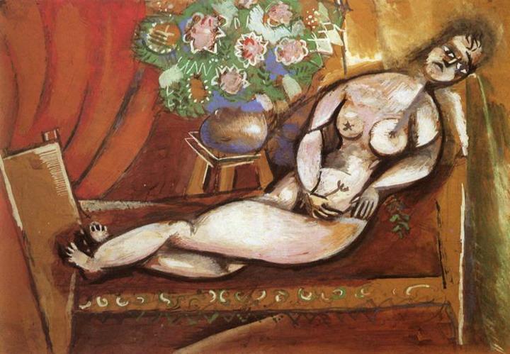 Лежащая обнаженная. 1911
