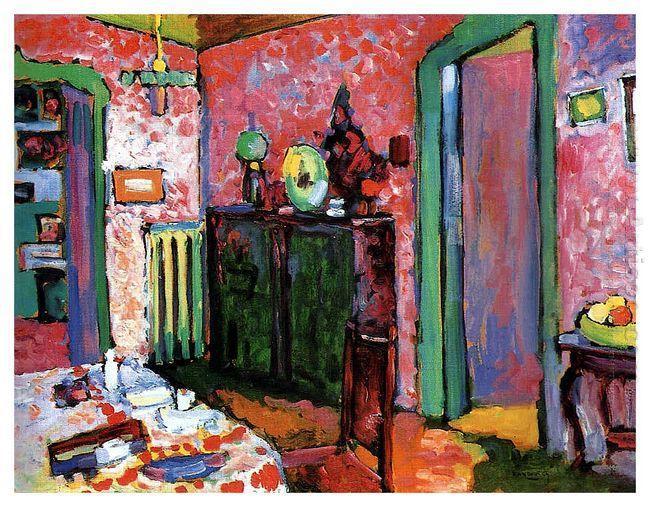 Интерьер (Столовая). 1909