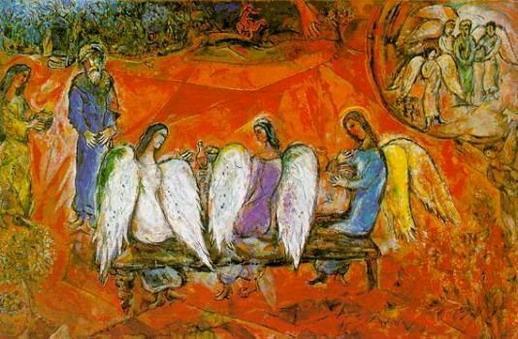 Авраам и три Ангела. 1958-1960