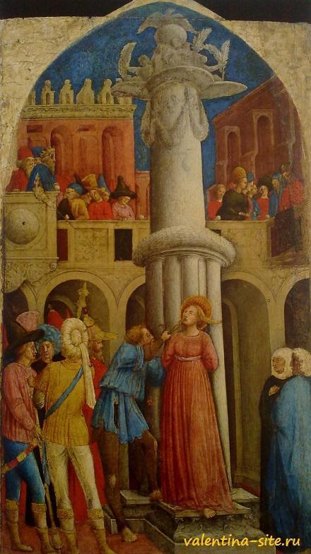 Джованни дАлеманья. Муничество Святой Аполлонии (вырывание зубов). Около 1440-1445