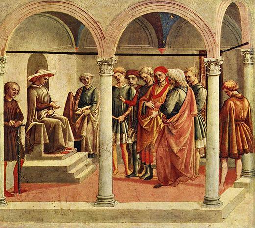 Пезеллино. Гуальтьери и граждане Салуццо. Около 1445-1450