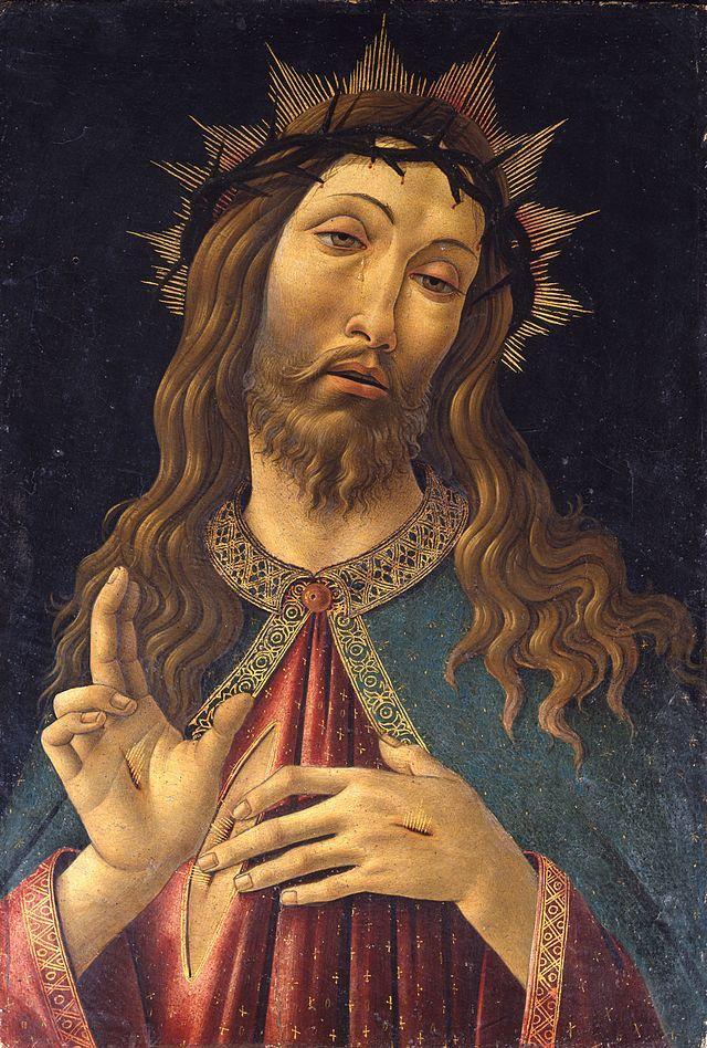 Боттичелли. Благословляющий Спаситель. Около 1500