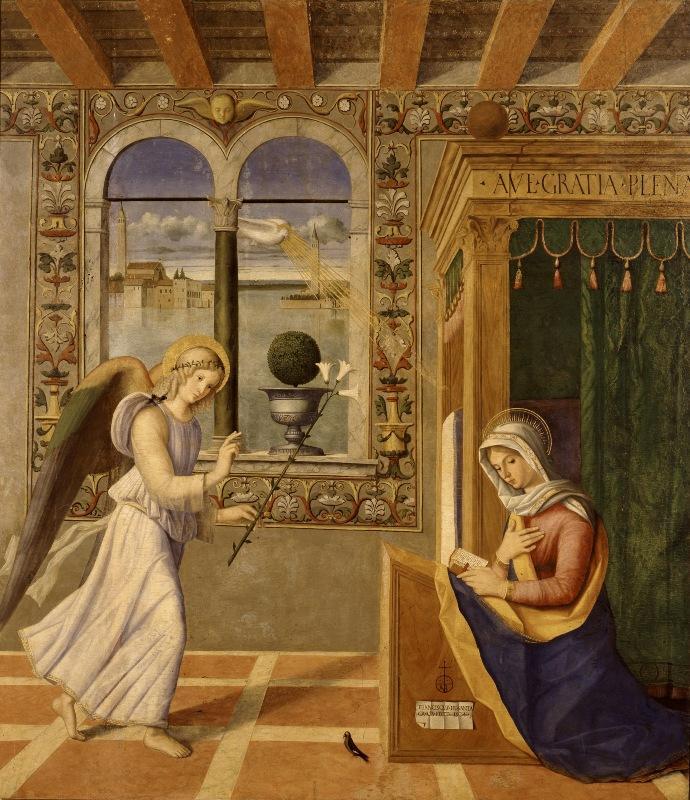 Франческо ди Симоне да Сантакроче. Благовещение. 1504