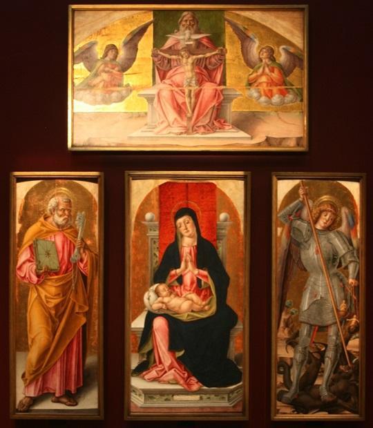 Бартоломео Виварини. Полиптих из Сканцо. 1488