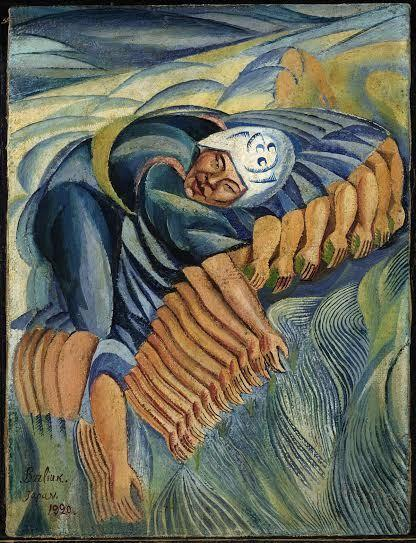 Давид Бурлюк. Посадка риса, 1920