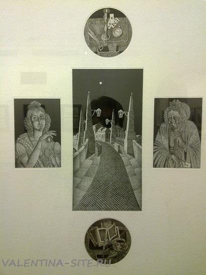 Композиция из иллюстраций к «Пиковой даме» А. С. Пушкина. 2001