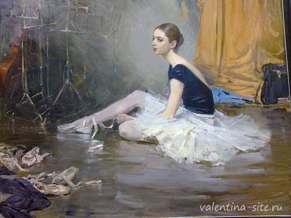 Ступени мастерства Академия Ильи Глазунова Выставка в Манеже Алдошин М В Портрет артистки балета Дипломная работа 2004г