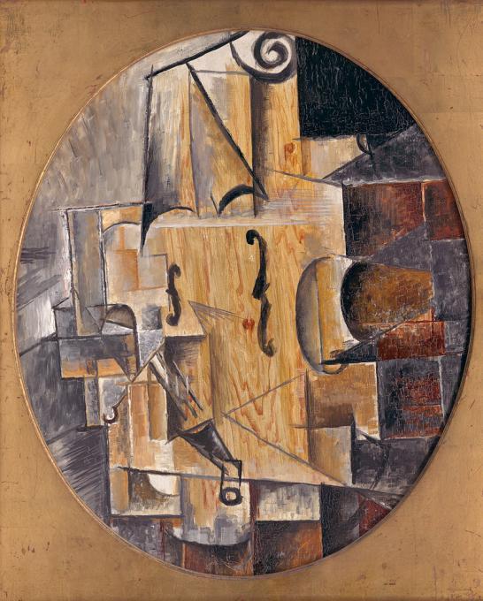 Пабло Пикассо. Скрипка. 1912. ГМИИ