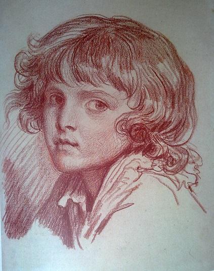 Жан-Батист Грез. Голова мальчика с иьющимися волосами. 1760-е