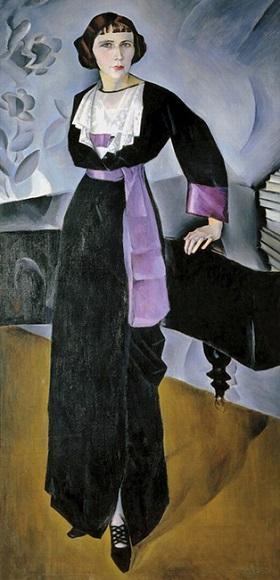 Альтман. Дама у рояля. 1913. Третьяковская галерея