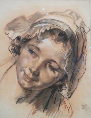 Жан-Батист Грез. Голова улыбающейся девочки. Около 1765