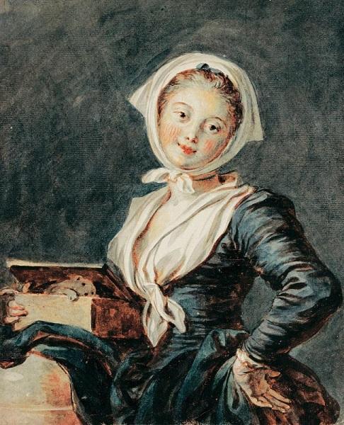 Жан-Оноре Фрагонар. Девушка с сурком. 1780-е