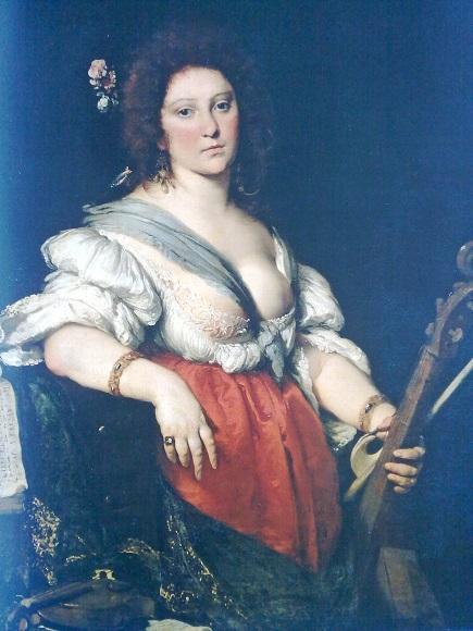 Бернардо Строцци. Женщина с виолой да гамба. 1635. Художественное собрание Дрездена