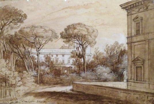 Клод Лоррен. Вид на палаццо Альбани на Квиринале. Около 1636-1637