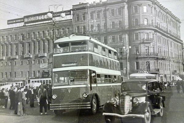 Роберт Диамент. Московский троллейбус. 1949