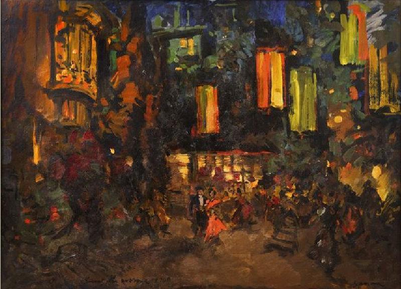 Константин Коровин. Дон-Кихот. Площадь.1900
