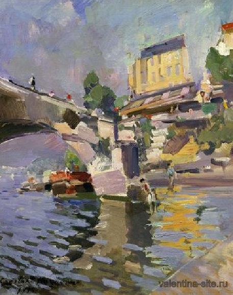 Константин Коровин. Мост в Сен-Клу. 1936