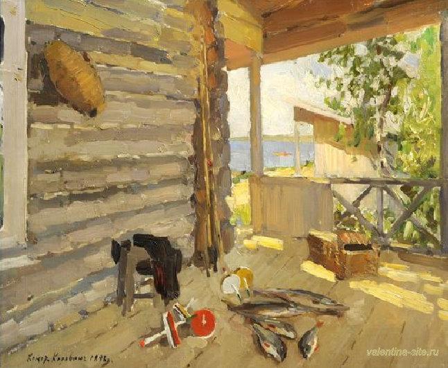 Картина Константина Коровина. На Сенежском озере. 1898