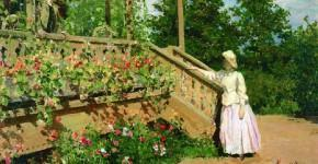 Константин Коровин. Настурции.1888
