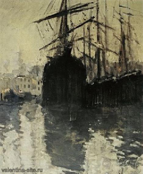 Константин Коровин. Порт в Марселе. 1890