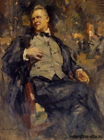 Константин Коровин. Портрет Ф.И.Шаляпина. 1921