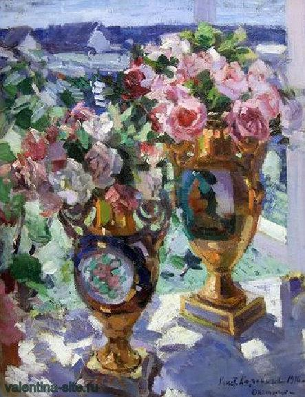 Константин Коровин. Розы. 1916