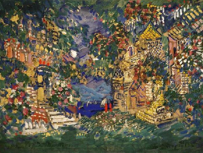 Константин Коровин. Сказка о царе Салтане. Город-леденец.1913