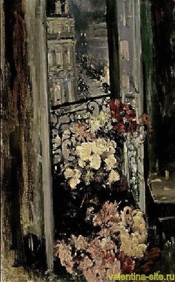 Константин Коровин. Терраса. Париж. 1908