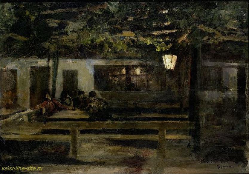 Константин Коровин. В испанской таверне. 1888