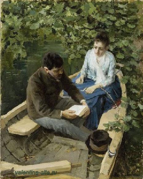 Константин Коровин. В лодке. 1888