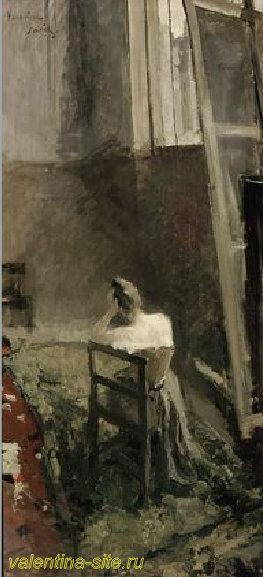 Константин Коровин. В мастерской художника. 1892-94