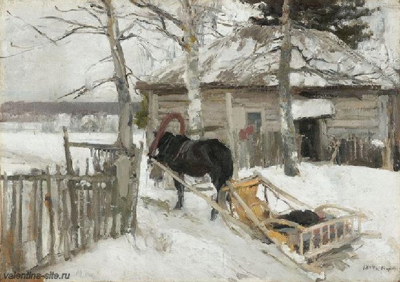 Константин Коровин. Зимой. 1894