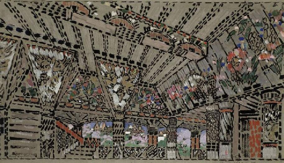 Константин Коровин. Золотой петушок. Палаты у воеводы Додона. 1909