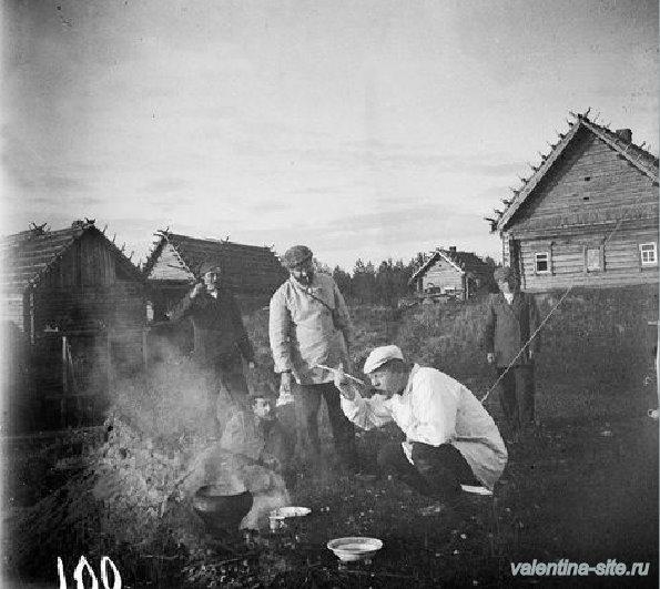 Ф.И.Шаляпин и К.А.Коровин в Охотине. 1900-е