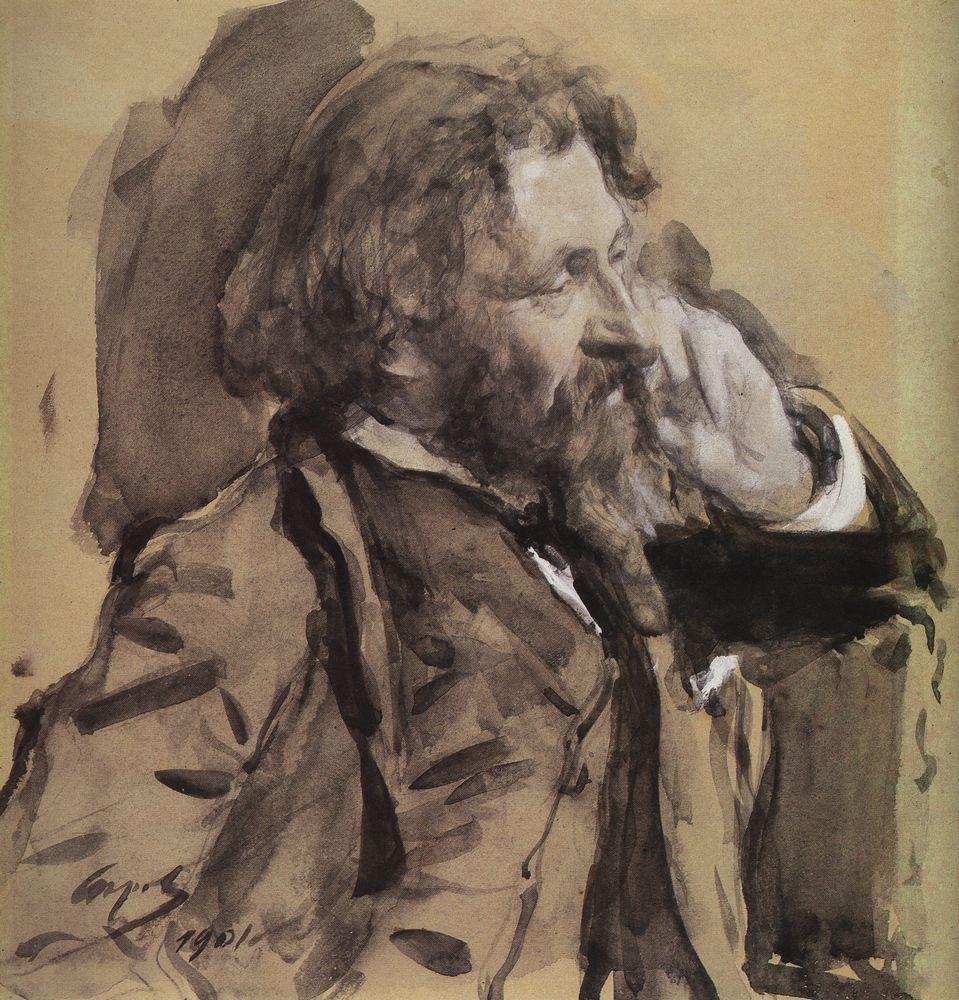 Валентин Серов. Портрет Ильи Репина. 1901