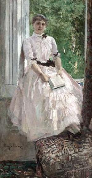 Константин Коровин. Портрет Т.С.Любатович. 1880-е