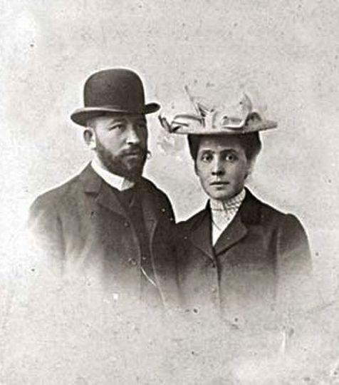 Вера Саввишна и Александр Дмитриевич Самарины, 1903 год, Рим, свадебное путешествие