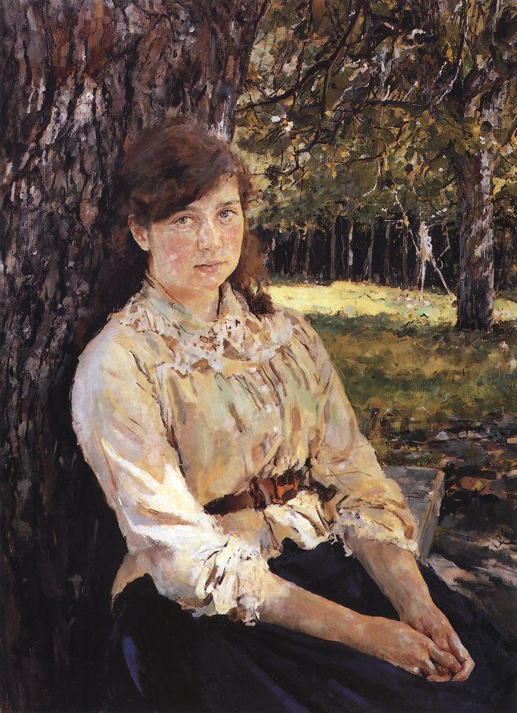 Валентин Серов. Девушка, освещенная солнцем (Портрет М.Я.Симонович). 1888