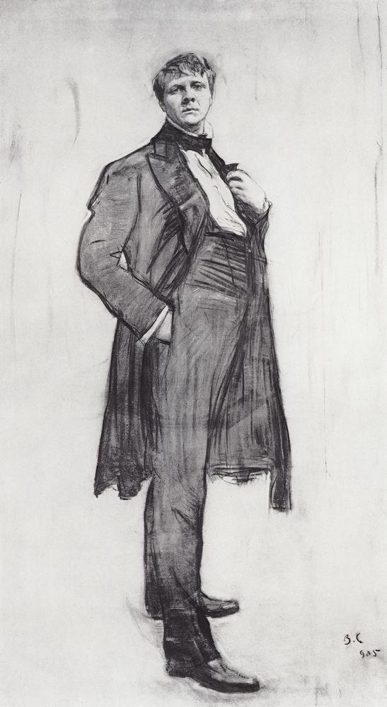 Валентин Серов. Портрет Ф.И.Шаляпина. 1905
