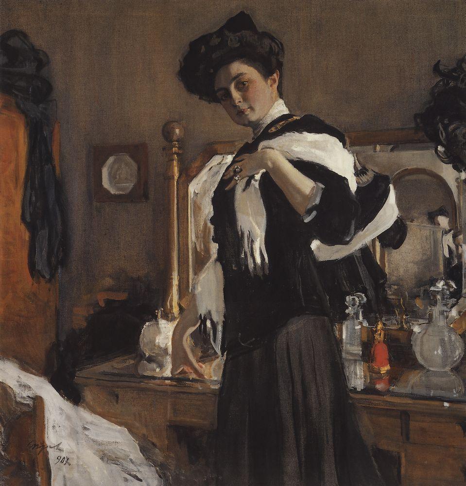 Валентин Серов. Портрет Генриэтты Гиршман. 1907