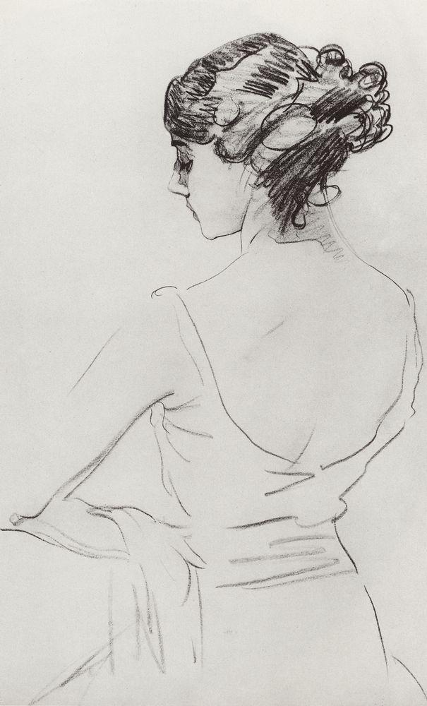Валентин Серов. Портрет Т.П.Красавиной. 1909