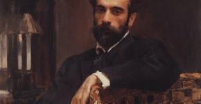 Валентин Серов. Портрет художника Исаака Левитана. 1893