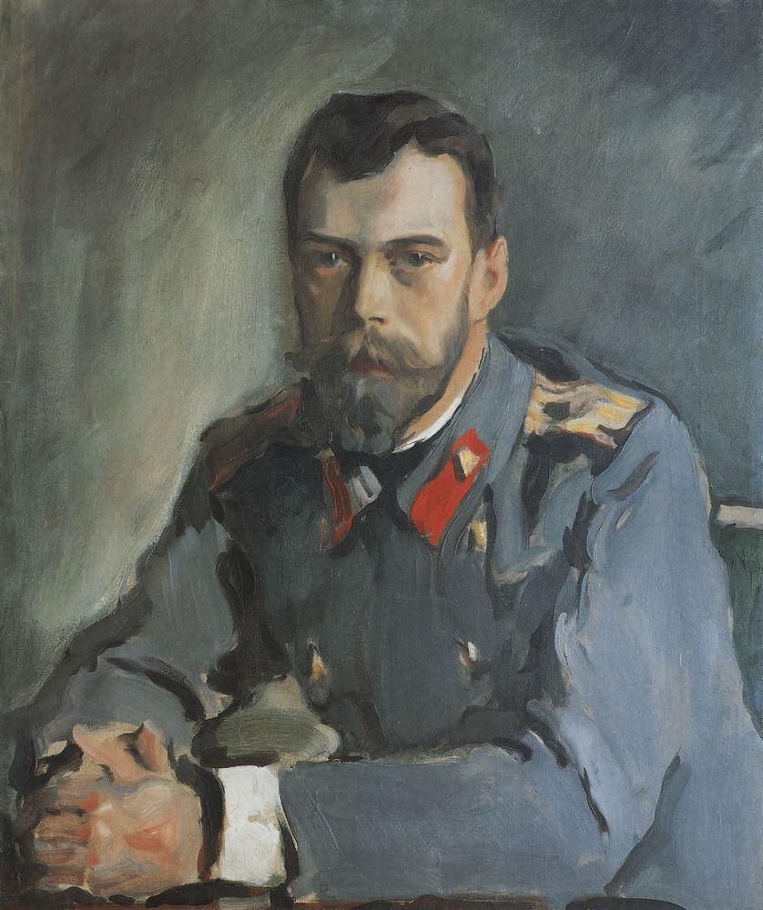 Валентин Серов. Портрет императора Николая Второго. 1900